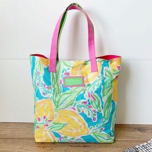 ( Lilly Pulitzer ) Lemon Tote Bag for Estée Lauder